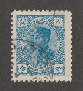 Persian stamp, Scott# 772, used, hinged, Hr, printing error/vairant, 10d, blue,