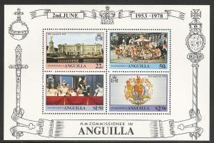 Anguilla 318a 1978 25th Coronation s.s. NH