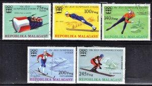 MALAGASY  SCOTT #538-40+C149-50   CTO OLYMPICS 1975   SEE SCAN