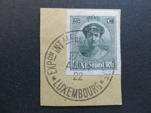 A4P27F82 Letzebuerg Luxembourg 1922 Philatelic Exhibition 25c used