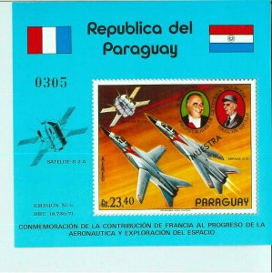 1972 - PARAGUAY - Michel # 194 Airmail -  Aviation and Space Research - SPECIMEN