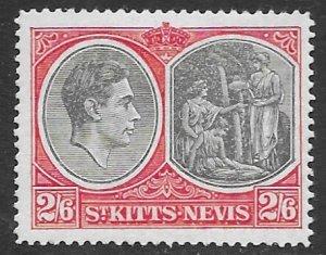 St Kitts  87    1938   2sh6p   fvf  mint - hinged