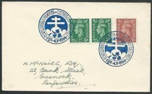 GB CZECHOSLOVAKIA 1944 cover Czech Forces in UK, commem cancel.............55981