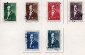 Finland Sc 233-38 1941 President Ryti stamp set used