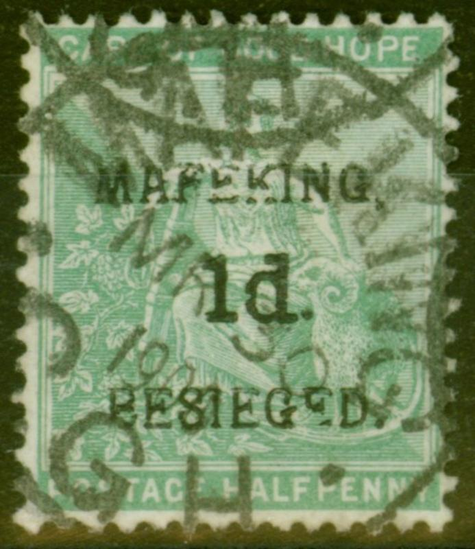 Mafeking 1900 1d on 1/2d Green SG1 Fine Used