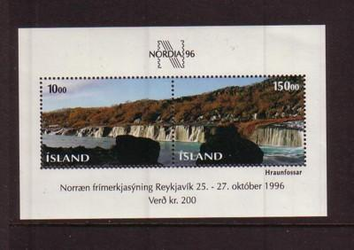 Iceland Sc 810 1995 NORDIA 96  stamp sheet mint NH