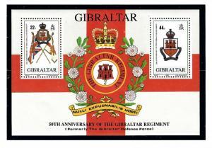 Gibraltar 548 MNH 1989 Gibraltar Regiment S/S