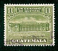 Guatemala - #RA2 Telegraph Building - Used