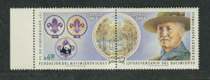 Chile Sc#623 M/NH/VF, Scouting, Cv. $42.50