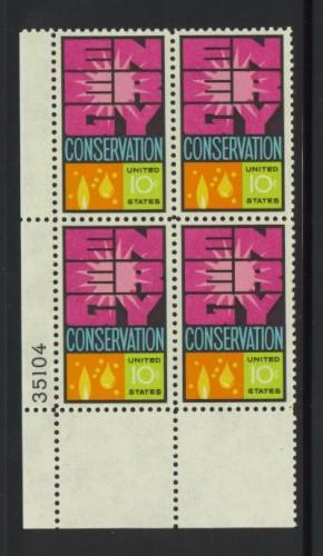 US Stamp #1547 MNH - Energy Conservation - Plate Block of 4