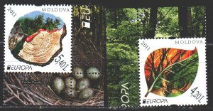 Moldova. 2011. 749-50. Forest protection, europe-sept. MNH.