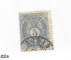 Norway, 24, Post Horn and Crown Single, **Used** #10