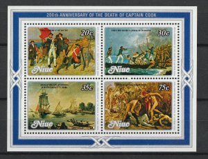 Niue MNH S/S 200th Anniversary Death Of John Cook
