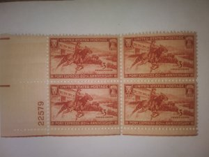 SCOTT # 894 PONY EXPRESS PLATE BLOCK MINT NEVER HINGED GEM FREE SHIPPING IN USA!