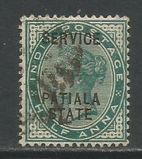 India-Patiala  #O8  Used  (1895)