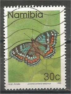NAMIBIA, 1993, used 30c Butterflies, Scott 745