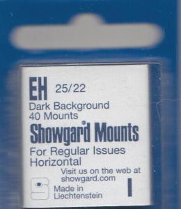 SHOWGARD BLACK MOUNTS EH 25/22 (40) RETAIL PRICE $3.95
