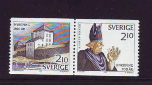 Sweden Sc1641-2 1987 Midieval Towns stamps mint NH