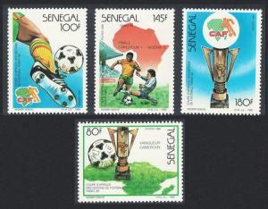Senegal Africa Cup Football Championship Rabat 4v 1988 MNH SG#946-949