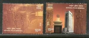India 2018 National Police Memorial Museum 2v Set MNH