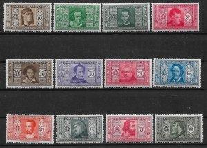1932 Italy 268-79 Dante Alighieri Society C/S of 12 MH