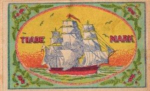 JAPAN Old Matchbox Label Stamp(glued on paper) Collection Lot #MB-4