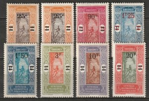 Dahomey 1924 Sc 90-6 set MH*/MNH** (includes 84a chalky paper)