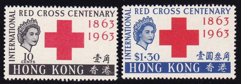 Hong Kong 1963 QEII Red Cross Issue Complete (2) VF+/NH/(**) Key to the Series
