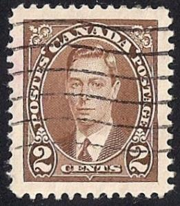 Canada #232 2 cent King George 6, Stamp used EGRADED XF-SUPERB 96 XXF