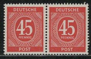 Germany AM Post Scott # 550, mint nh, pair