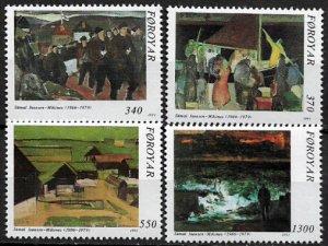 Faroe Is. 228-31 MNH Set - Paintings