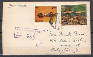 Bhutan, Scott cat. 154 E only. Mushroom 2-D value on a Mailed cover. *