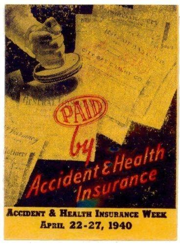 US 1940 Accident & Health Insurance Week Poster Stamp