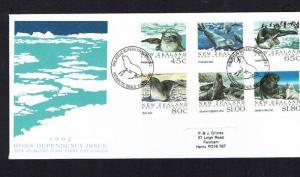 New Zealand, Ross Dependency: 1992,  Antarctic Seals FDC.