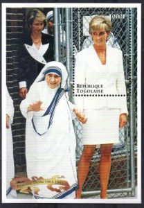 STAMP STATION PERTH Togo #1809 YTBF320 MNH S/S CV$7 Princess Diana/Mother Theres