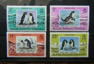 British Antarctic Territory 1979 Penguins set MNH