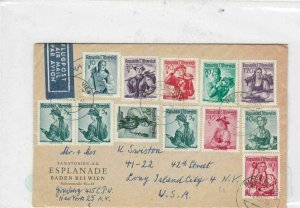 austria multi stamps cover Ref 9950