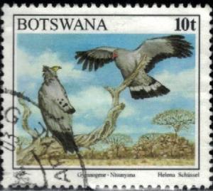 Bird, African Harrier Hawk, Gymnogene, Botswana stamp SC#621 Used
