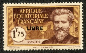 French Equatorial Africa, Scott #113 Unused, Hinged