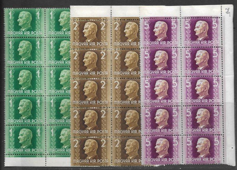 Hungary 597-9 MNH  cpl. set X 10 vf, 2018 CV $27.50