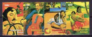 Senegal 1999 YT#1578/1581 PAUL GAUGUIN Set (4) Perforated MNH