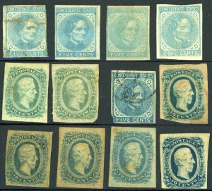CONFEDERATE STATES OF AMERICA Postage Stamp Collection