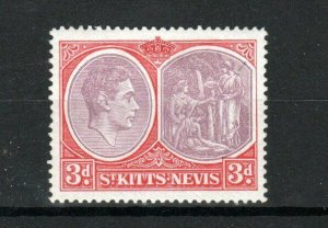 St Kitts-Nevis 1943 3d Medicinal Spring perf 14 MH