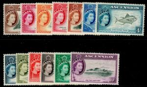 ASCENSION SG57-69, COMPLETE SET, LH MINT. Cat £140.