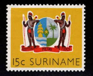 Suriname Scott 283 MH* Coat of Arms stamp corner crease