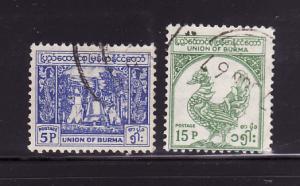 Burma 142, 144 U Bell, Mythical Bird