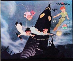 Dominica MNH S/S 688 Disney's Peter Pan Christmas 1980