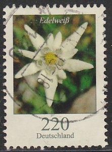 Germany, Used Flower Definitive, Sc. nos. 2322, 220c hi value