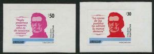 HERRICKSTAMP URUGUAY Sc.# 2465-66 Artigas Self-Adhesive