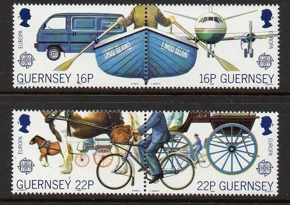 Guernsey 1988 Europa Bicycle Boat VF MNH (381-4)